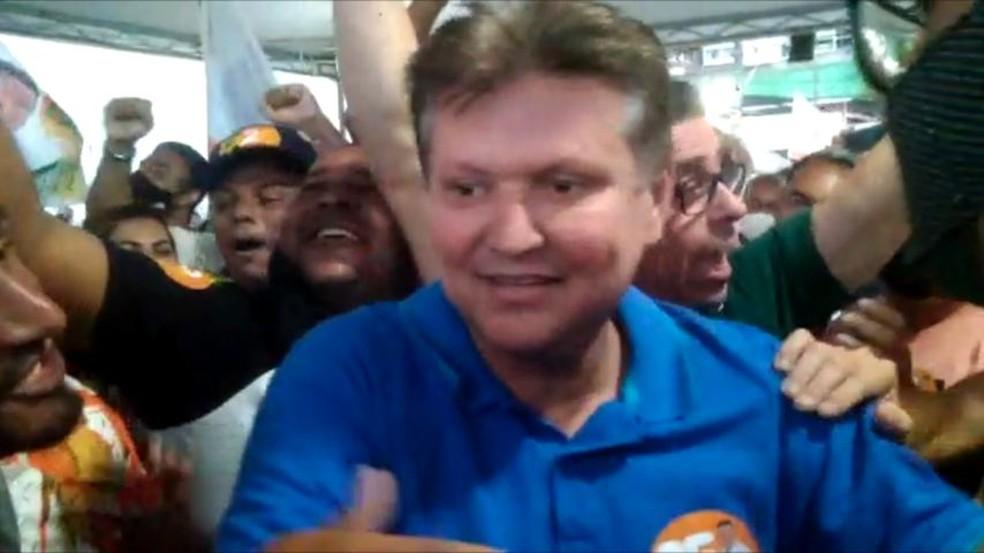 Euclerio Sampaio (DEM) é eleito prefeito de Cariacica  — Foto: Reprodução/ TV Gazeta