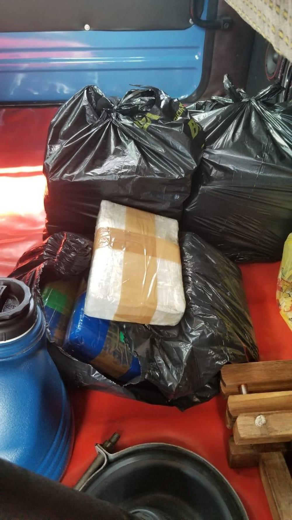 Cocaína apreendida em Corumbá — Foto: PF/Divulgação