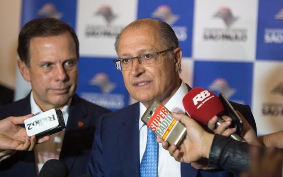 O governador do estado de São Paulo, Geraldo Alckmin, e o prefeito de São Paulo, João Doria (Foto: Alexandre Carvalho / A2img / Flickr Governo do Estado de SP)