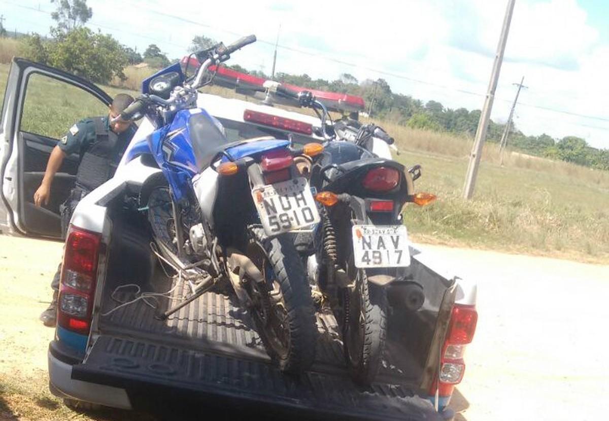Jovem é preso com quatro motocicletas roubadas no Cantá, interior de Roraima