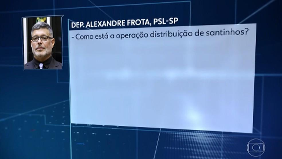 Áudio de Frota em telefonema a seu ex-motorista, que o denunciou ao Ministério Público  — Foto: Reprodução/ Jornal Nacional