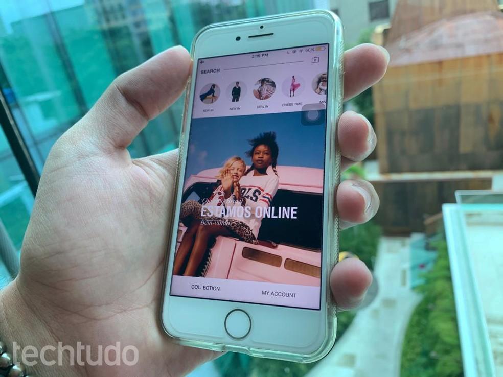 6f15358c84a3f ... E-commerce da Zara vende roupas e acessórios pelo site e pelo app — Foto