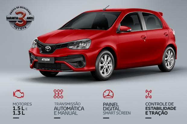 Novidades na linha 2019 do novo Toyota Etios  (Foto: Divulgação)