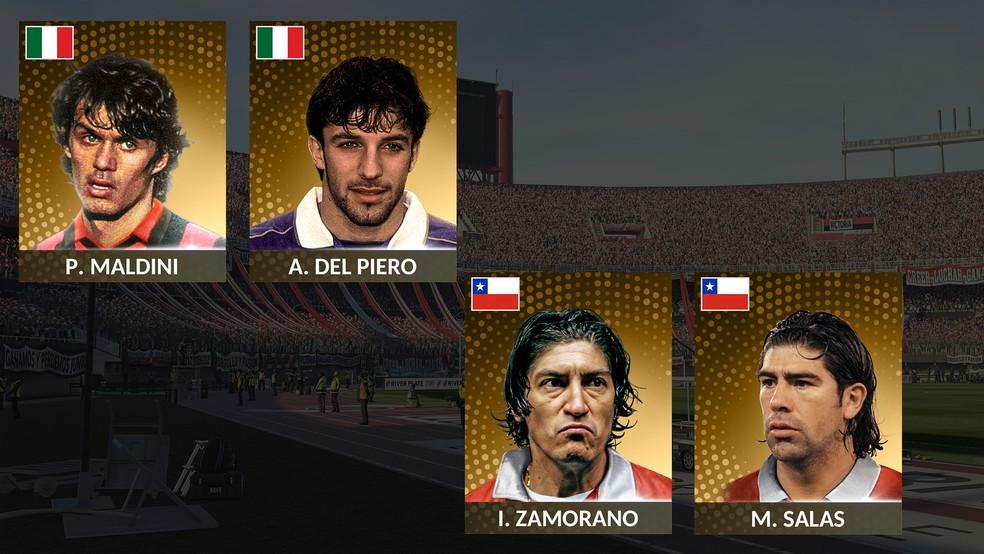 Chile e Itália têm alguns dos maiores de suas histórias em PES 2019 (Foto: Reprodução/Murilo Molina)