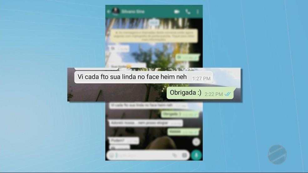 Ele pegou o celular da adolescente no currículo e mandou mensagens no celular dela (Foto: TV Centro América)