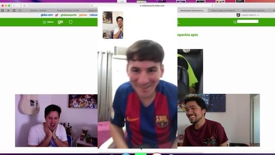 """Chamada de Vídeo tem """"participação de Messi"""" e trote com jornalistas"""