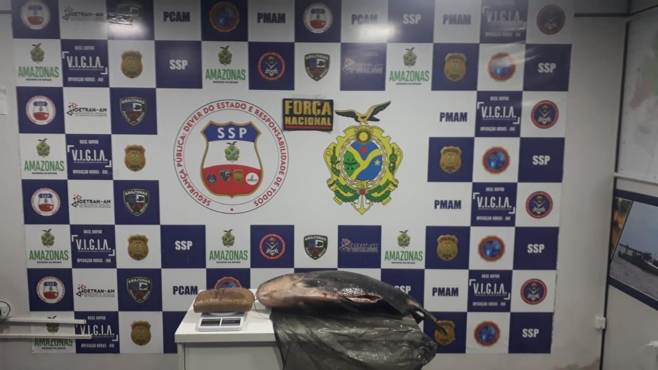 Polícia apreende tambaqui 'recheado' com 1,5 quilo de cocaína, no AM