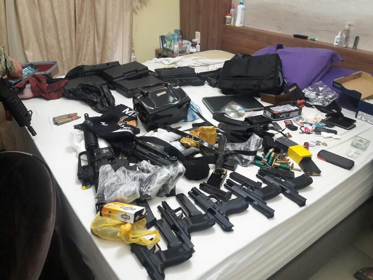 Grupo é preso no Paraguai com fuzis e suspeita é de ligação com tráfico na fronteira de MS