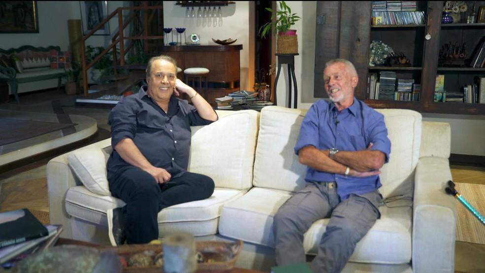 José Augusto e Paulo Sérgio Valle se encontram pela primeira vez para falar sobre o sucesso — Foto: GloboNews