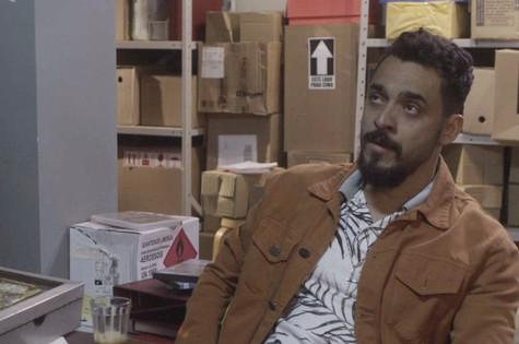 Rui Ricardo Dias é Barão em 'O tempo não para' (Foto: Reprodução)