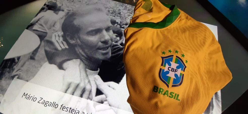 Zagallo foi o treinador da seleção brasileira na Copa de 1970 — Foto: Márcio Iannacca / ge.globo
