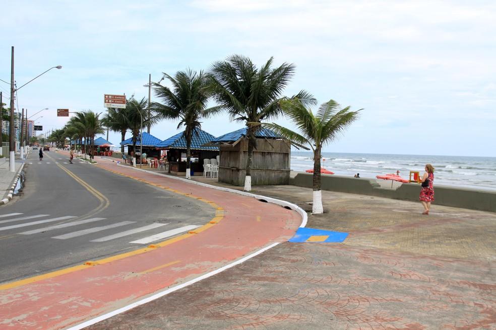 Caso aconteceu na praia do bairro Vera Cruz, em Mongaguá — Foto: Raul Izar/Prefeitura de Mongaguá
