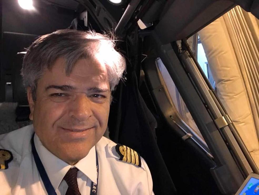 Mauro Hart é piloto de avião — Foto: Arquivo pessoal