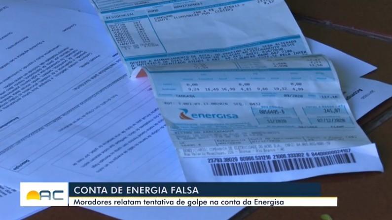 Moradores denunciam conta de energia com código de barras falso e tentativa de golpe em Rio Branco