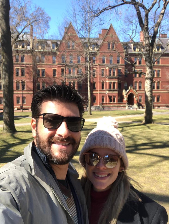 Laísa mora com o marido nos Estados Unidos desde março deste ano — Foto: Arquivo pessoal