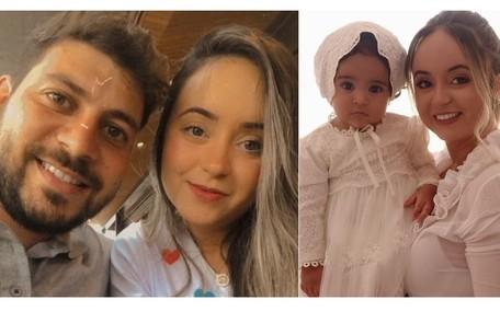 Walleria Motta, noiva de Caio Afiune, já tem quase cinco mil seguidores. Eles são pais de Manuella, de 10 meses Reprodução