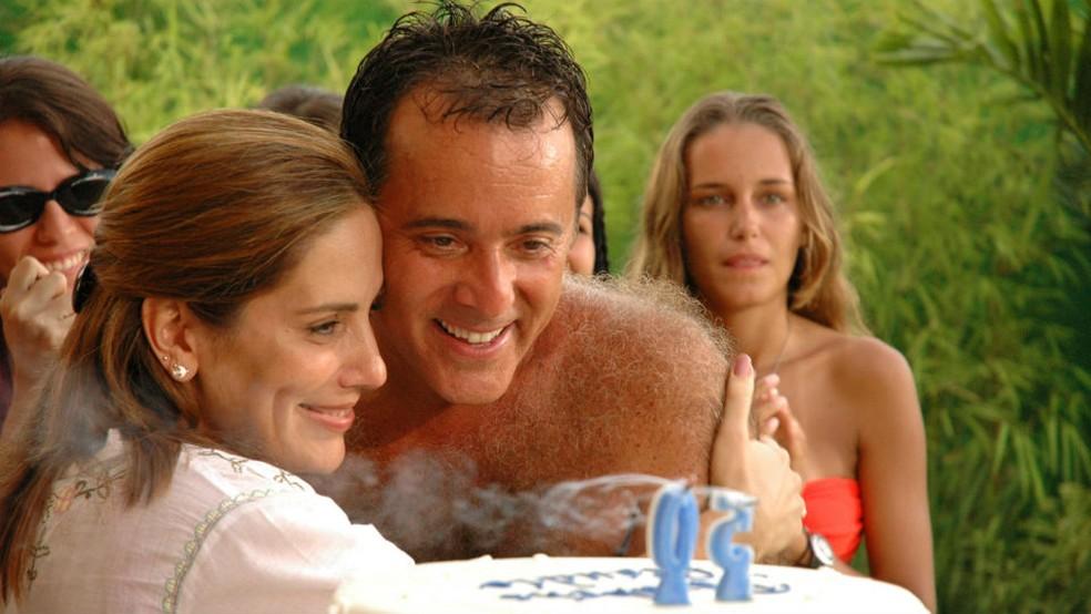 Tony Ramos e Glória Pires em cena do filme 'Se eu fosse você' — Foto: Reprodução/Globo