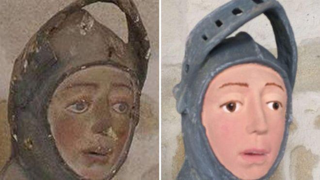 Restauração do São Jorge na Espanha (Foto: Artus Restauracion de Patrimonio)
