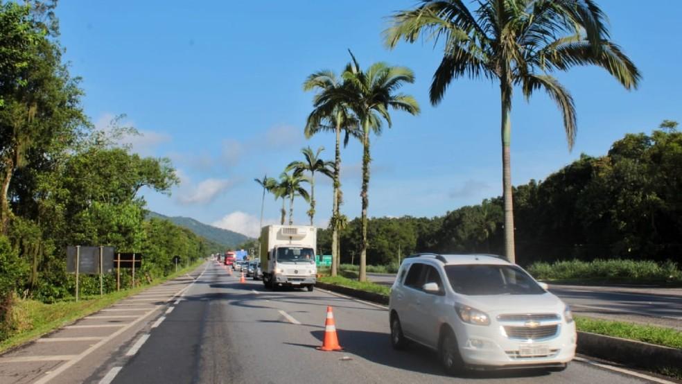 Barreira sanitária impedia acesso aos turistas no litoral e pode voltar a qualquer momento. — Foto: Colaboração/Diogo Monteiro/JB Litoral