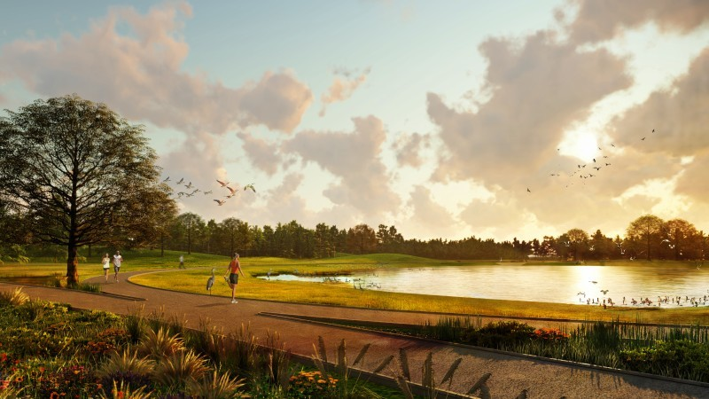 Parque aberto ao público será construído com objetivo de integrar os funcionários e cidadãos à natureza (Foto: Divulgação/ Walmart)