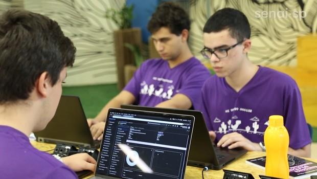 Integrantes da Speex, startup vencedora de competição nos EUA (Foto: Divugação/Senai SP)