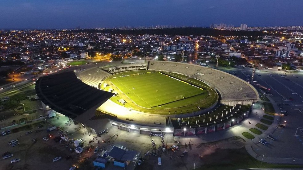O Estádio Almeidão, em João Pessoa, vai ser o palco de um dos principais clássicos entre Botafogo-PB e Treze da história — Foto: Reprodução