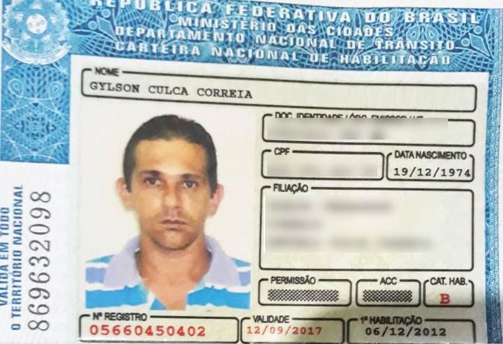 Gylson Culca Ferreira — Foto: Polícia Militar de Várzea Grande/Divulgação