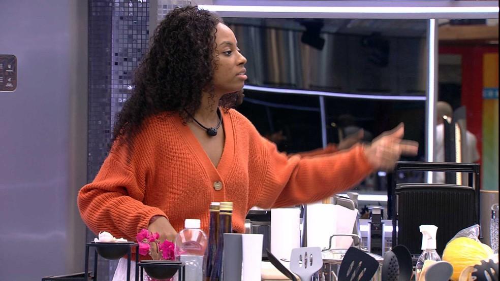 BBB21: Lumena fala de situação com sister — Foto: Globo