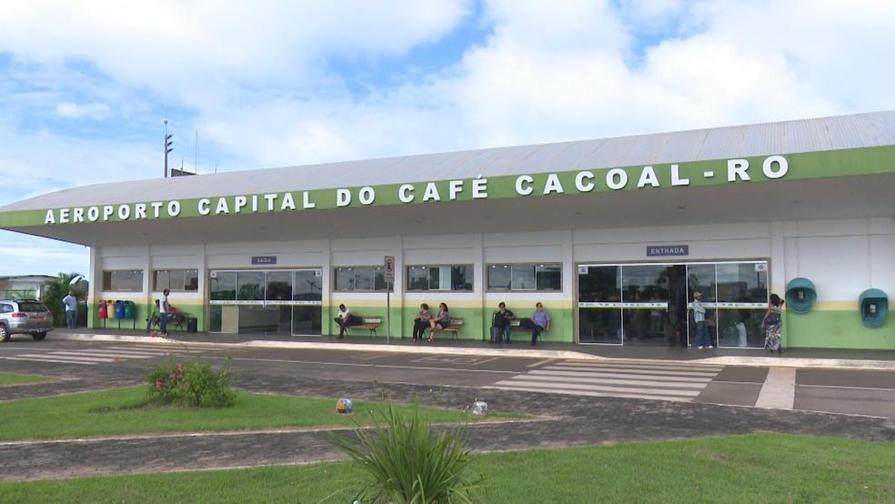 Furto aconteceu dentro do Aeroporto de Cacoal  — Foto: Magda Oliveira/G1