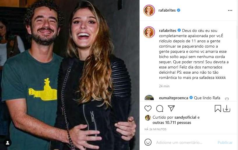 Felipe Andreoli e Rafa Brites (Foto: Reprodução/Instagram)