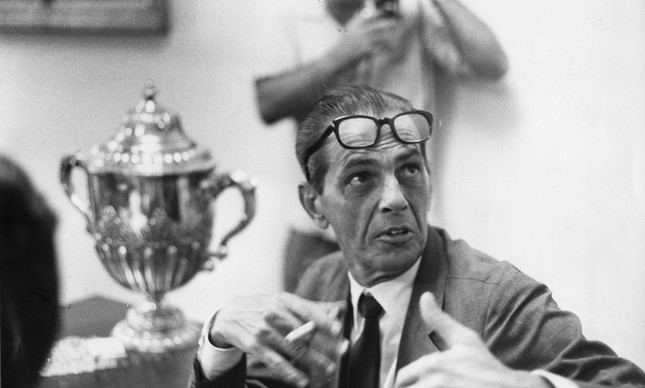 O então treinador da seleção brasileira, João Saldanha, em janeiro de 1970