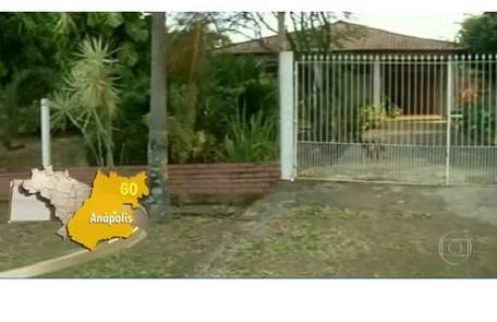A propriedade fica localizada em Anápolis, município de Goiás Reprodução