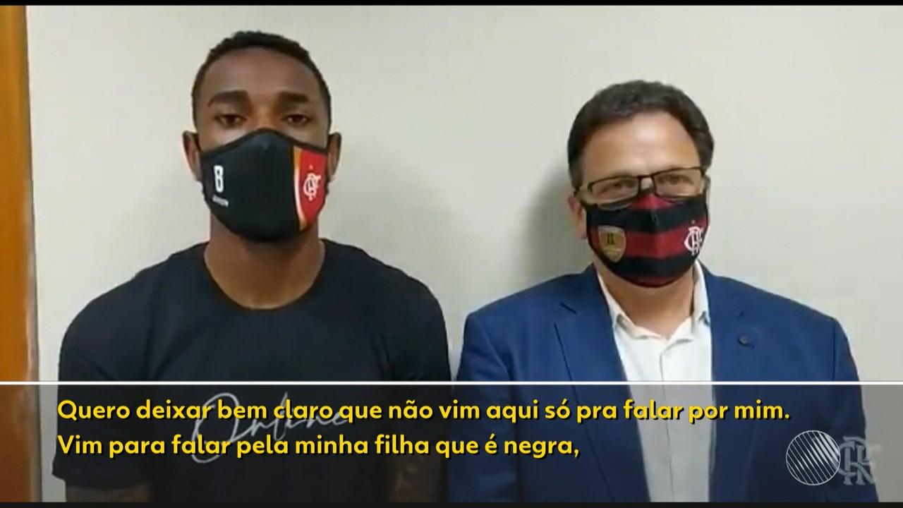 Caso Gerson: Jogador do Flamengo depõe em inquérito que apura denúncia de injúria racial