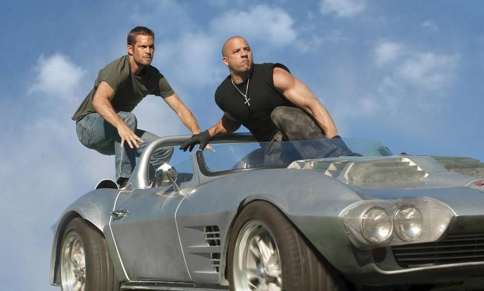 Vin Diesel interpreta Dominic na franquia 'Velozes e Furiosos' — Foto: Reprodução/Internet
