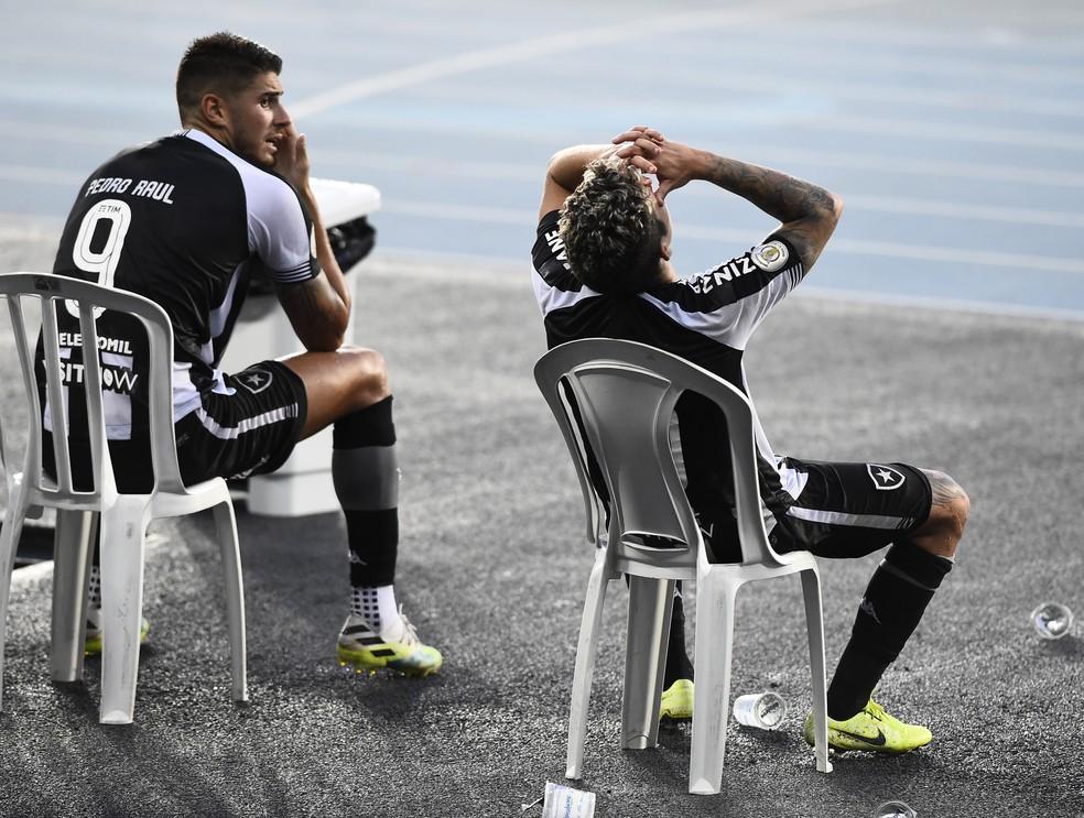 Botafogo x Atlético-GO Nilton Santos — Foto: André Durão/ge