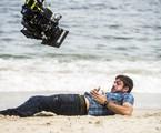 Marco Pigossi grava as cenas de 'A força do querer' em que Zeca leva um tiro de Ruy (Fiuk).  |  João Miguel Júnior/Globo