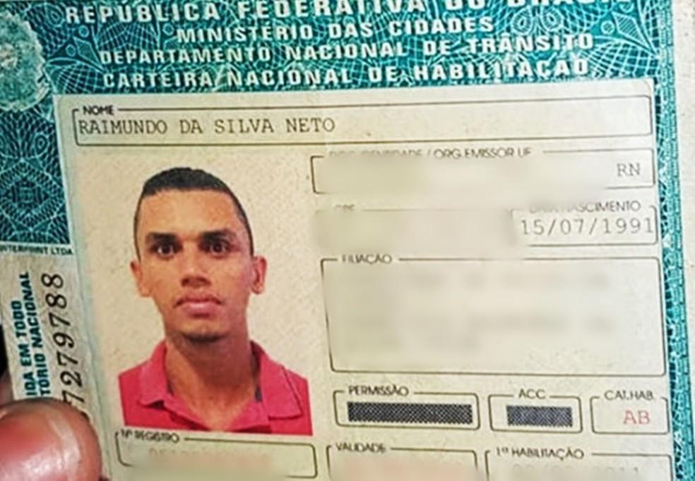 Raimundo da Silva Neto tinha 27 anos — Foto: PM/Divulgação