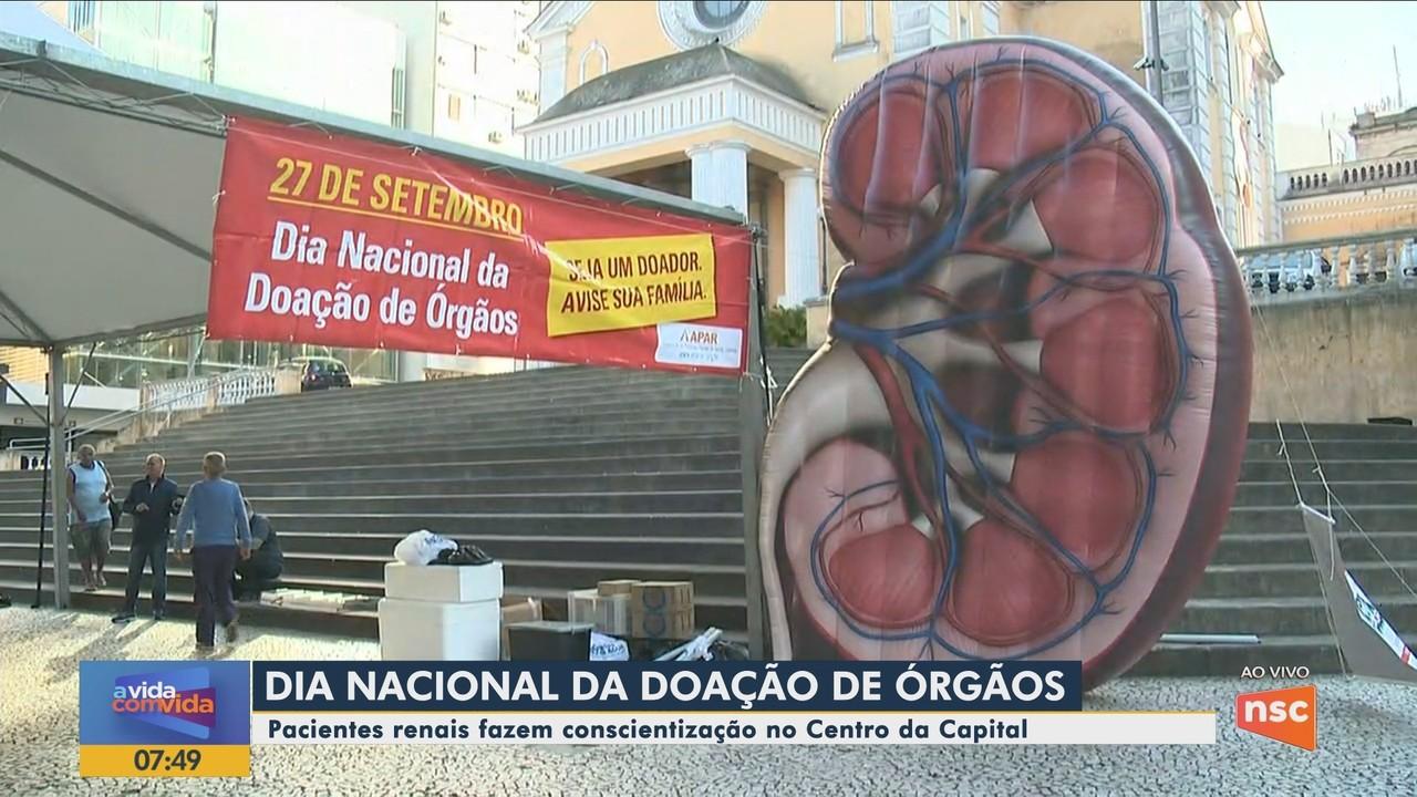 Dia Nacional da Doação de Órgãos é celebrado com ações em Florianópolis
