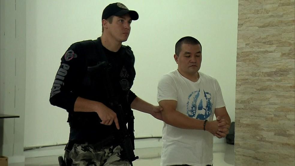 Presos em operação contra pedofilia na Grande SP (Foto: Reprodução/TV Globo)