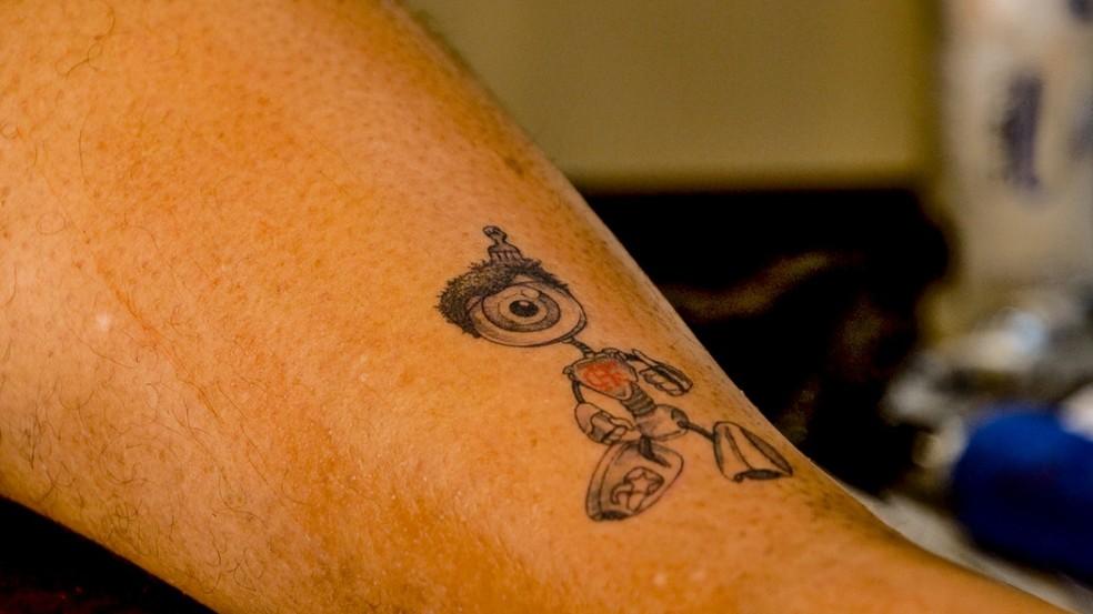Babu exibe nova tatuagem em homenagem ao BBB20 — Foto: Arquivo pessoal