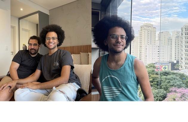 João se mudou para São Paulo com o namorado, Igor. O apartamento tem varanda envidraçada com uma bela vista da cidade (Foto: Reprodução)
