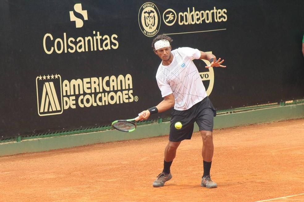Feijão foi superado por Gastão Elias nesta sexta-feira (Foto: Divulgação / Challenger de Floridablanca)