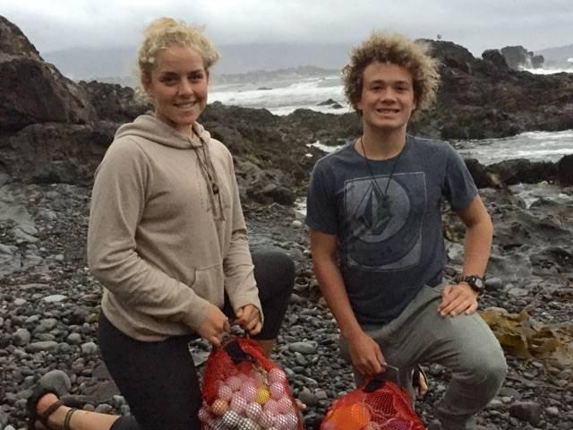 Alex Weber e Jack Johnston (Foto: The Plastic Pickup/Reprodução/Facebook)