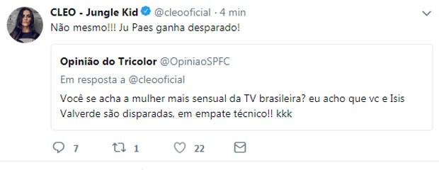 Cleo responde seguidor (Foto: Reprodução/Instagram)