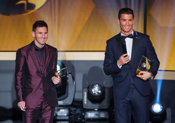 Cristiano Ronaldo e Messi (Foto: Getty Images)