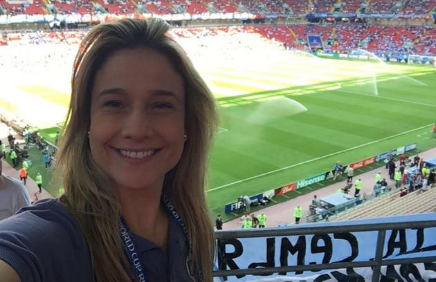 Fernanda Gentil diz que não se esquecerá do Mundial de 2010, na África do Sul. Foi sua estreia na cobertura jornalística da competição: 'A primeira é sempre a mais especial' (Foto: Arquivo pessoal)