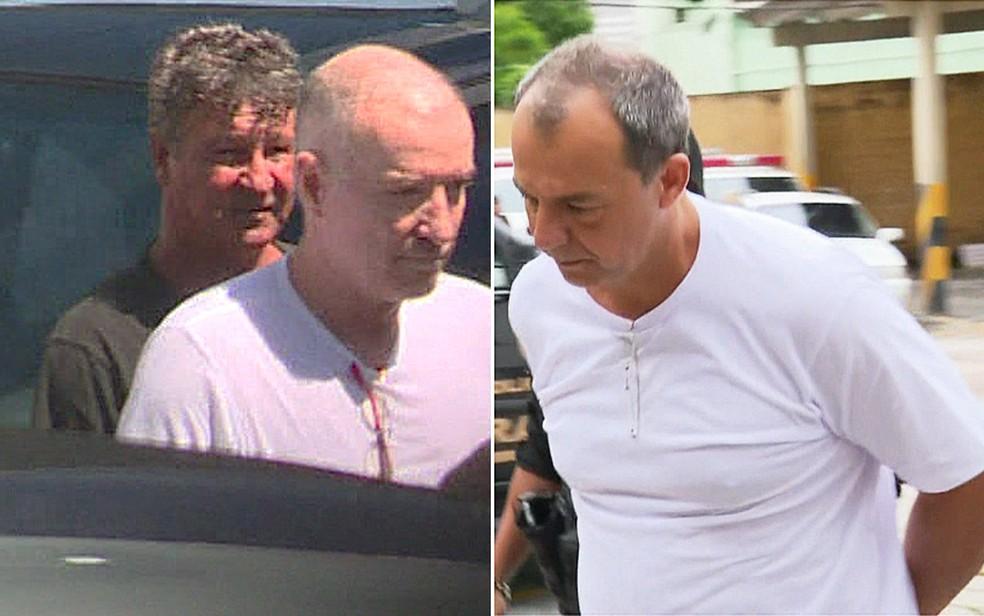 Eike Batista foi preso na Operação Eficiência e Sérgio Cabral na Operação Calicute — Foto: G1 Rio