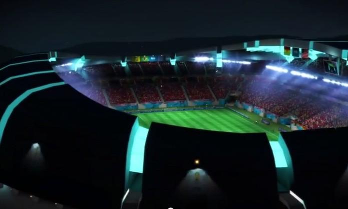 Estádios nacionais estarão presentes em 2014 FIFA World Cup Brazil (Foto: Reprodução / YouTube)