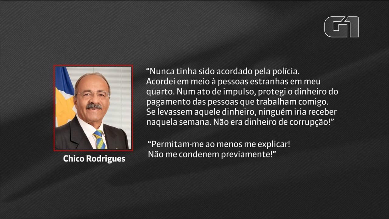 'Não me condenem previamente', pede Chico Rodrigues em mensagem enviada a senadores