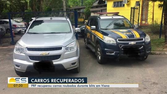 Carros roubados com documentos falsificados são apreendidos no ES
